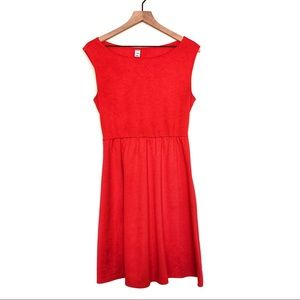 Old Navy Old Navy Red Coral Cotton Shift Dress